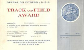 Track & Field award, May 6, 1960.