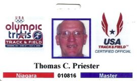 Olympic Trials ID card, 2008.
