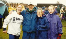 1997 State Meet with Steve Wakefield, Holly Scott & Kelly Christensen.