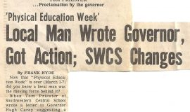 Local Man Wrote Governor, Got Action; SWCS Changes. March 13, 1976.