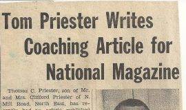 Tom Priester Writes Coaching Article For National Magazine.