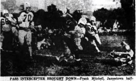 Pass Intercepter Brought Down. October 11, 1948.