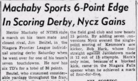 Machaby Sports 6-Point Edge In Scoring Derby, Nycz Gains. October 19, 1948.
