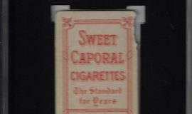 Tommy Leach. American Tobacco Company trading card back side, 1909.