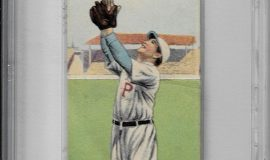 Tommy Leach. American Tobacco Company trading card front side, 1911.