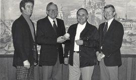 Ken Blodgett, Milt Lindstrom, Vinnie Calarco, Russ Ecklund - IAABO Achievement Award