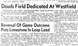Douds Field Dedicated At Westfield. September 26, 1958.