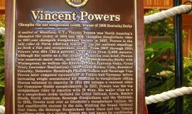 Vincent Powers plaque at National Museum of Racing and Hall of Fame.