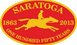 Saratoga Race Course sticker.