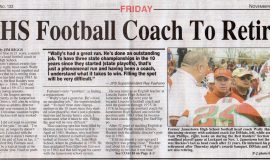 JHS Football Coach To Retire. November 14, 2003.