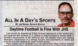 Daytime Football Is Fine With JHS. March 21, 1998.