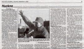 Huckno Enters Third Decade As JHS Head Coach (page 2). September 4, 2003.
