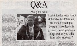 Q&A Wally Huckno. Gridiron '96 High School Preview. September 5, 1996.