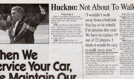 Q&A Wally Huckno (page 2). Gridiron '96 High School Preview. September 5, 1996.