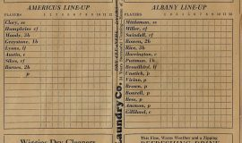 1935 Albany GA scorecard