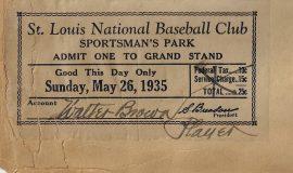 1935 St. Louis player pass