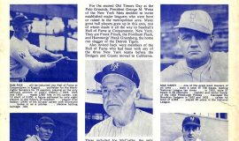 1963 NY Mets Old Timers Game Program