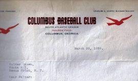 3-25-39 Columbus letter
