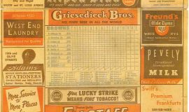 1947 St. Louis Browns Score Card page 3