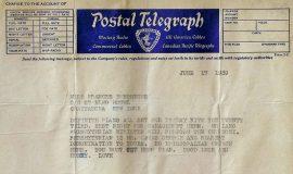 Brown t oBurroughs telegram 6-17-39