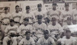 Walt Brown, back row, third from left, with the 1944 Toledo Mud Hens