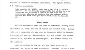 William M. Webb, The Man and His Legacy, by Greg Peterson. Page 4.
