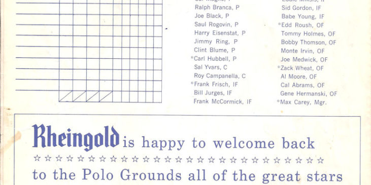 1963 New York Mets Old Timers Day program book page 2