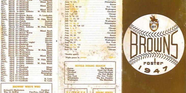 St. Louis Browns baseball team1947 roster sheet