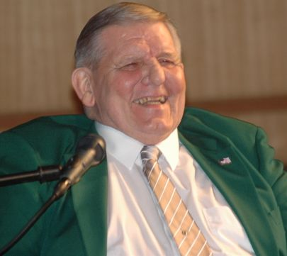 Jim McCusker enjoys a laugh at a March 2011 public screening of a rare film featuring the 1961-1962 Philadelphia Eagles on which Jim played left tackle.