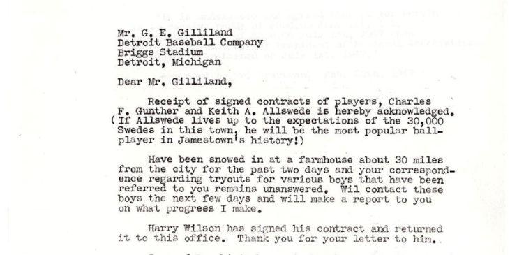 Jamestown Falcons correspondence
