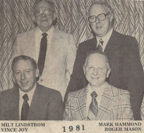 Milt Lindstrom, Mark Hammond, Vince Joy, Roger Mason