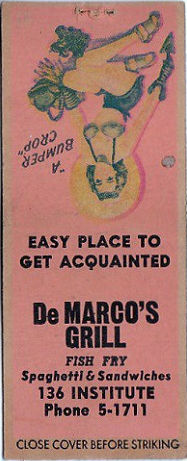 De Marco's Grill matchbook