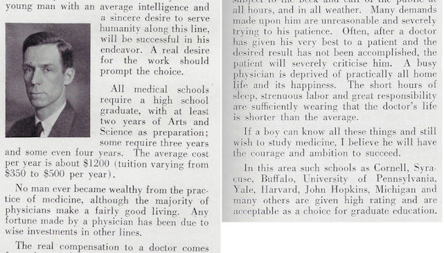 Dr. Blaisdell offered advice on pursuing a medical career in this 1931 article.
