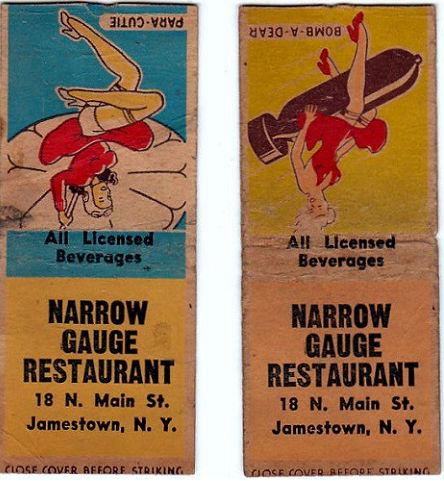 Narrow Guage matchbook