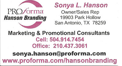 Sonya Hanson is a marketing and promotional consultant