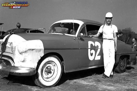 Bill Rexford with his Oldsmobile 88, perhaps the hottest car of the time.