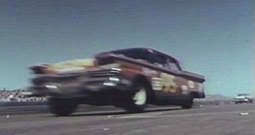 Bob Duell driving Buesink's Grand National Ford in 1959 Daytona 500.