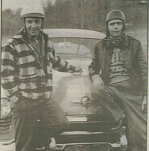 Lloyd Moore and Bill Rexford, NASCAR drivers,1950.
