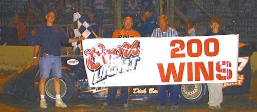 Barton after 200th late model feature win.