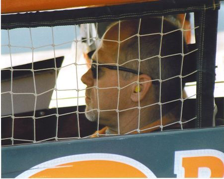 Dick Barton waiting to race, 2004.