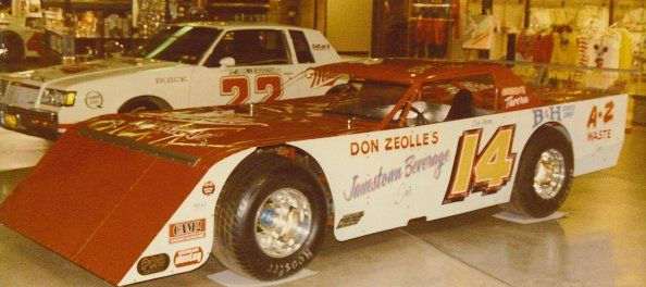 Barton's first late model, 1985.