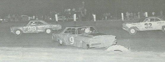 Freddy Knapp #99 and Floyd Fanale #9, Stateline Speedway, 1966.