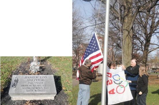 New flag pole honoring Jennifer Stuczynski.