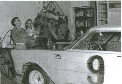 Marty Rater and Jim Fardink, Buesink mechanics, 1965.