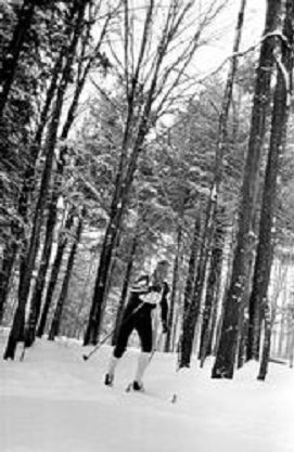 Skier taking part in the 1982 Chautauqua Ski Marathon.