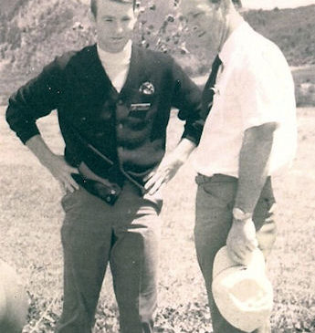 Stan Marshaus, left, is pictured with Arnold Palmer.