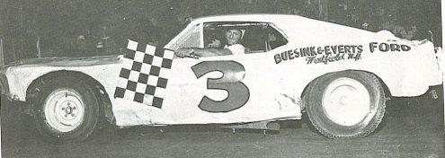Johnny Whitehead, Eriez Speedway, 1970.