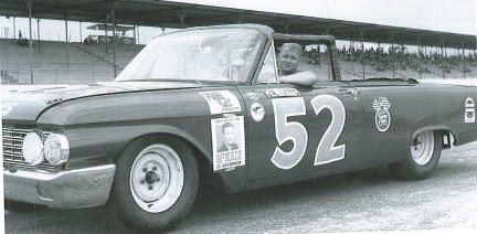 Cale Yarborough, NASCAR driver, 1962 race at Darlington Speedway.