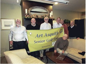 Pictured are members of the newly named Art Asquith Senior Golf Tour.