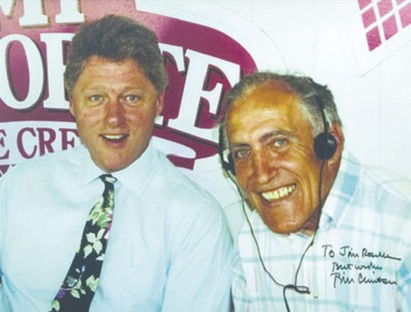 Jim Roselle is pictured in summer 1991 with Bill Clinton.